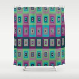 Retro Rectangle Shower Curtain