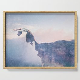 Falling Stars Surreal Levitation Off an Australian Cliff-Stars and a Levatating Woman Serving Tray