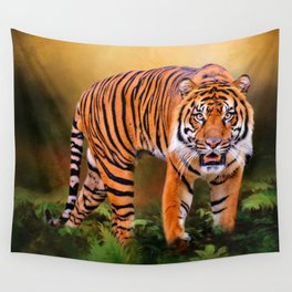 Father Tiger - Mother Earth Wall Tapestry