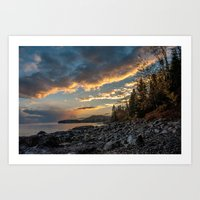 Sunset in Duluth, Minnesota Art Print