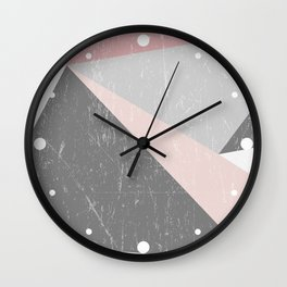 Grunge Geometric Retro Pattern Wall Clock