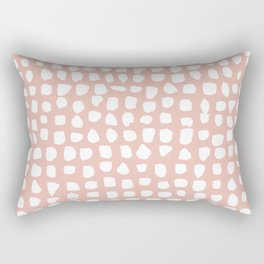 Dots / Pink Rectangular Pillow