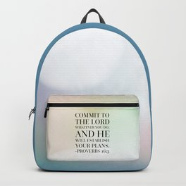 Proverbs 16:3 Bible Quote Backpack