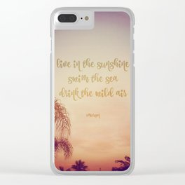 The Wild Air at Sunset Clear iPhone Case