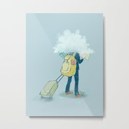 Mr. Confused Metal Print