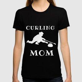 Funny Curling Mom T-shirt