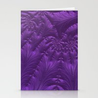 renaissance Stationery Cards featuring Renaissance Purple by Charma Rose