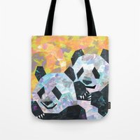 pandas Tote Bags featuring Pandas by DanielleArt&Design