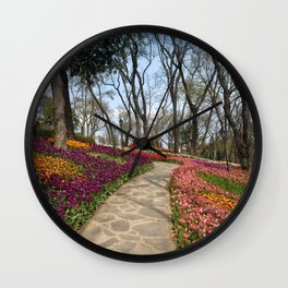park in Istanbul Wall Clock