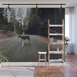Deer Crossing / Yosemite, California Wall Mural