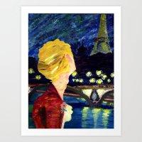 les mis Art Prints featuring Enjolras in Paris les mis by Pruoviare