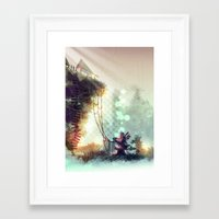 uncharted Framed Art Prints featuring Uncharted by Zomby Robin
