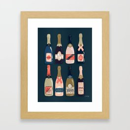 French Champagne Collection – Teal Framed Art Print