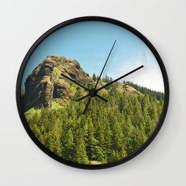 Saddle Mountain Oregon Forest Volcano Woods Landscape Northwest Wall Clock