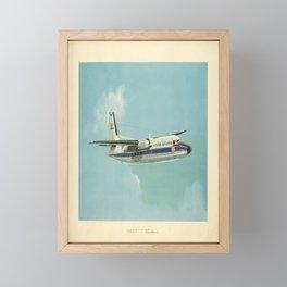 retro poster indian airlines fokker f27 Framed Mini Art Print