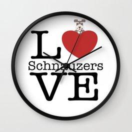 Love Cute Schnauzer Wall Clock