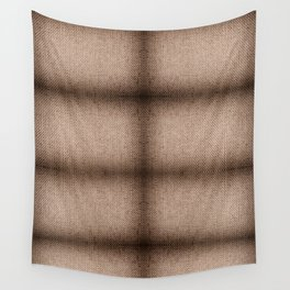 Beige burlap cloth texture abstract Wall Tapestry