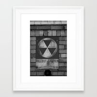 fallout Framed Art Prints featuring Fallout by Lia Bedell