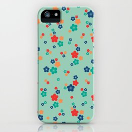 blossom ditsy in grayed jade iPhone Case