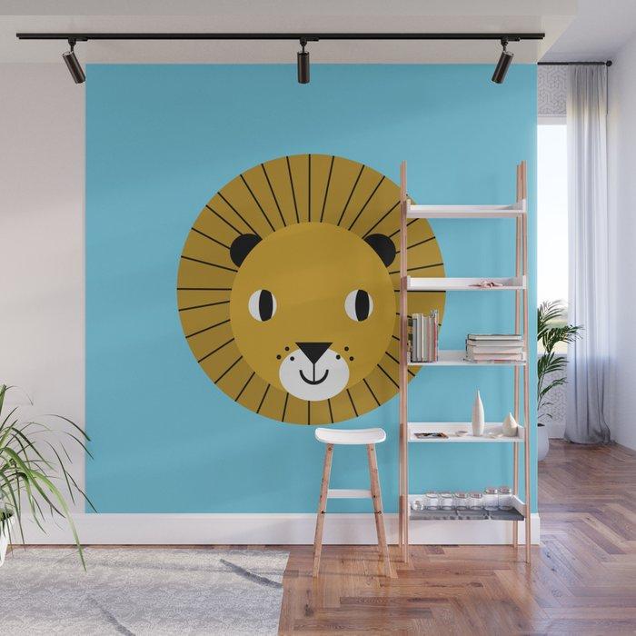 Lion Face Cute Decor For Kids Boys And S Nursery Room Wall Mural