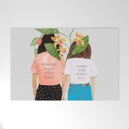 Motto #illustration #concept #painting Welcome Mat