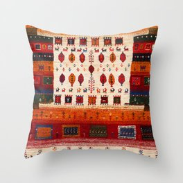 N38 - Epic Bohemian Traditional Andalusian Moroccan Artwork Throw Pillow