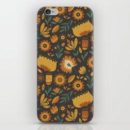 Autumn Folk Art Florals iPhone Skin