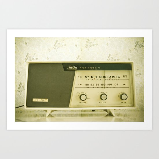 Vintage Radio Art Print