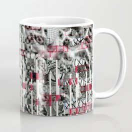 File and Soul Not Found (P/D3 Glitch Collage Studies) Coffee Mug