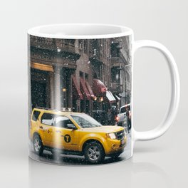 Snow showers in Financial District Coffee Mug