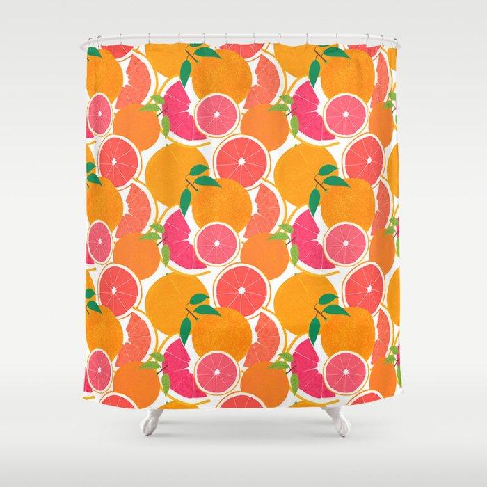 Grapefruit Harvest Shower Curtain