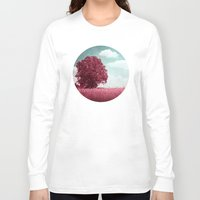 moulin rouge Long Sleeve T-shirts featuring ARBRE ROUGE by INA FineArt