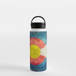 Colorado State flag, Vintage retro style Water Bottle