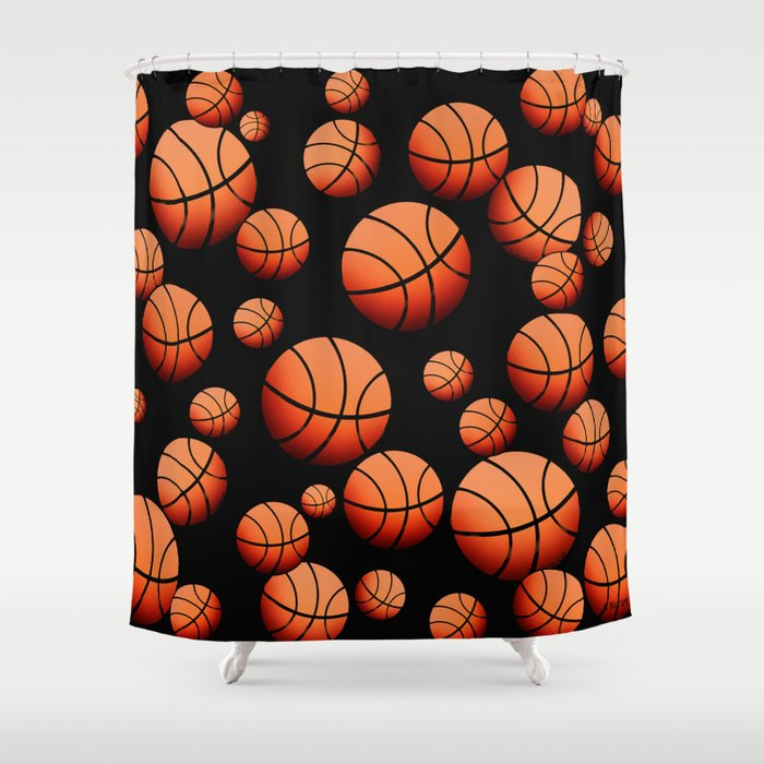 Basketball Shower Curtain By Joanfriends