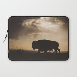 Bison in the Storm - Badlands National Park Laptop Sleeve