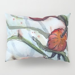 Rose Hips Abstract Watercolor Nature Pillow Sham