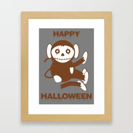 Dead Monkey Happy Halloween Framed Art Print