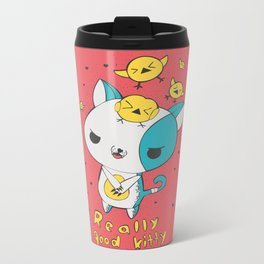 Really Good Kitty Metal Travel Mug