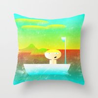 vector Throw Pillows featuring The Adventure of Neb No. 1 by BCGenest