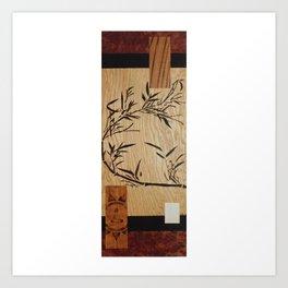 Japanese style abstract zen buddha bamboo Art Print