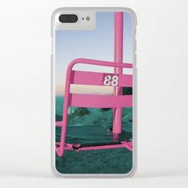 Pop Art 80's Chair Lift Clear iPhone Case