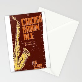 Chicago Brown Ale Stationery Cards