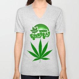 Smoke Weed Everyday ArtWork - Cool design Unisex V-Neck