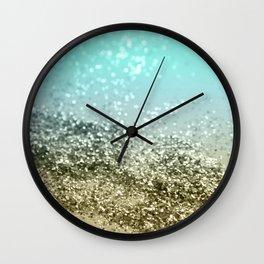 Lemon Twist Beach Glitter #3 #shiny #decor #art #society6 Wall Clock
