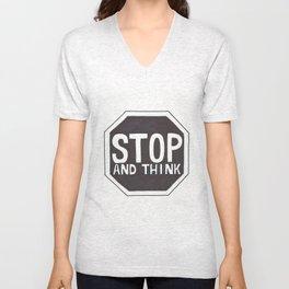 STOP Unisex V-Neck
