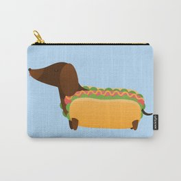 Wiener Dog in a Bun Carry-All Pouch