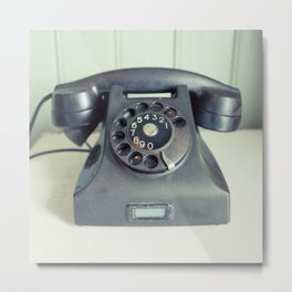 Old Rotary Telephone Metal Print