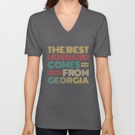 The Best Husband Comes From Georgia Unisex V-Neck