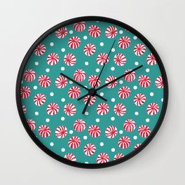 Pepperminty Wall Clock
