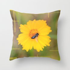 The Bee And The Flower Throw Pillow
